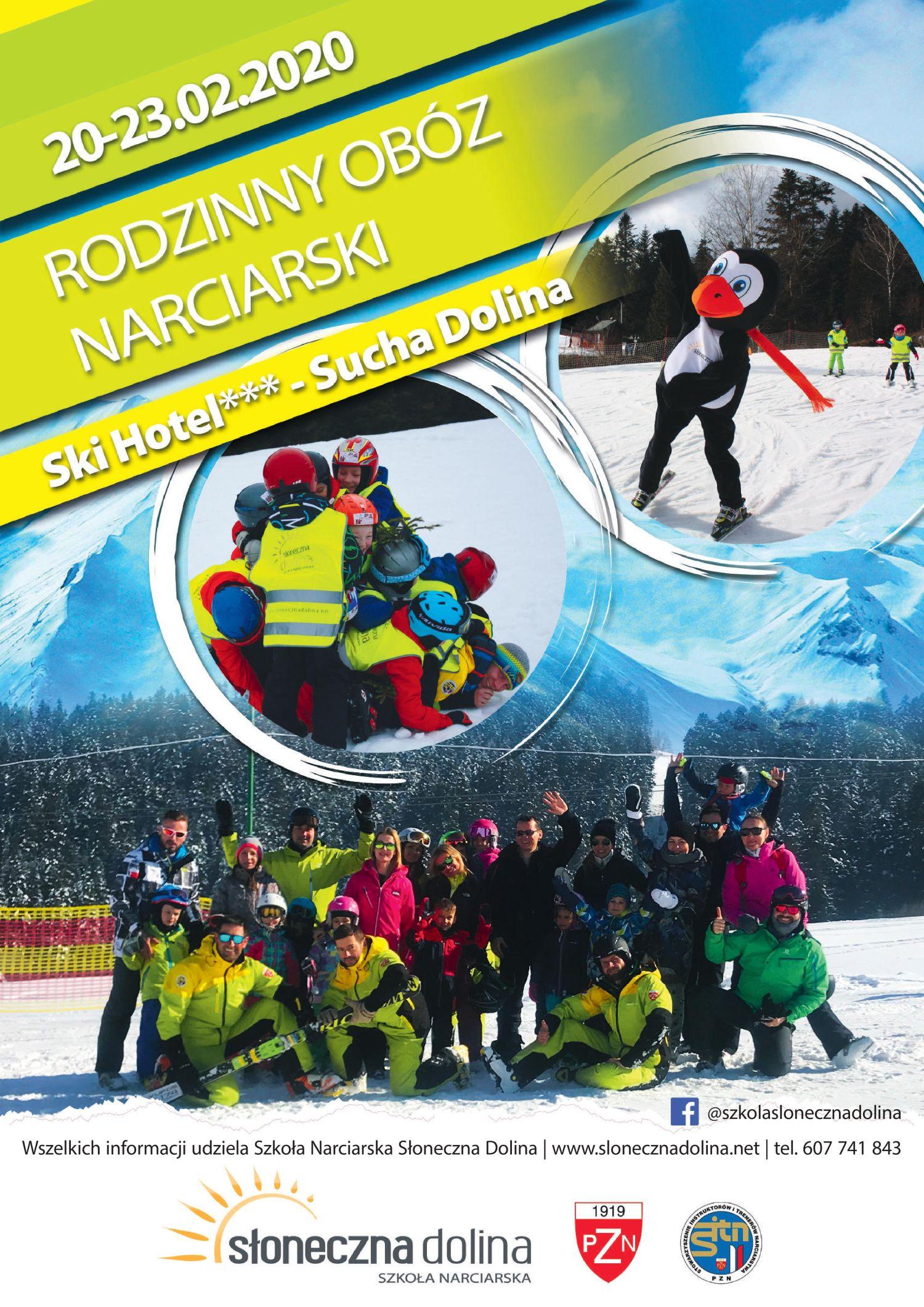 Rodzinny obóz narciarski - plakat